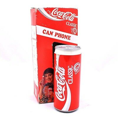 Coca Cola Classic Can Shaped Phone in Box Model 5011- from 1992