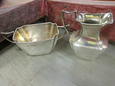 English Hallmarked Sterling Sugar  and Creamer Set Vintage Dating 1912