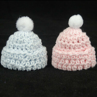 12 miniature crochet hat baby shower favors baptism boy girl for decorations