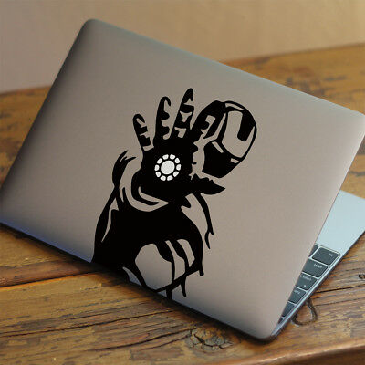 """IRON MAN Apple MacBook Decal Sticker fits 11"""" 13"""" 15"""" and 17"""" models"""