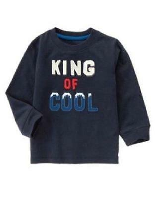 NWT Gymboree King of Cool Boys Winter 100% Cotton Long Sleeve Tee, 12-18 Months