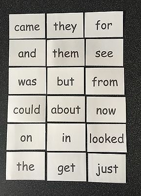 FLASH CARDS FIRST 100 HIGH FREQUENCY WORDS EYFS/Reception/Primary Read Child UK
