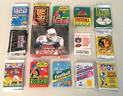 Lot of Football Wax & Foil Packs -- UNOPENED!!