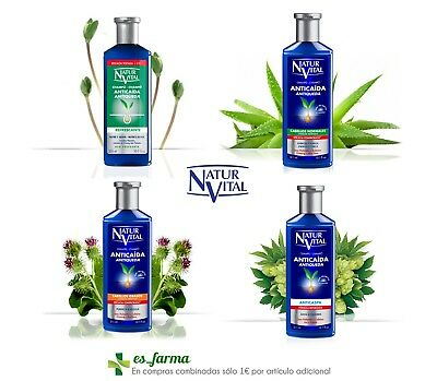 Natur Vital Anticaida Champu Tratamiento Caida Cabello 300Ml Anti Hair Loss