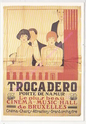 Cpm Cinema Affiche Belge Trocadero Cinema Music Hall De Bruxelles