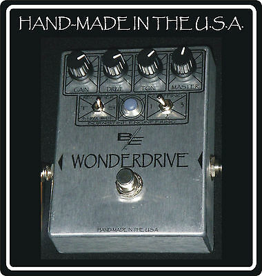 The WONDERDRIVE Overdrive Distortion hand wired point to point Made in USA