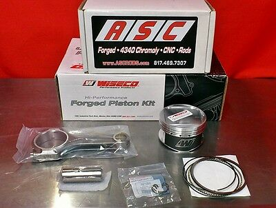 COMBO: Wiseco Pistons K615M865 & ASC Rods - Toyota MR2 Celica GT4 3SGTE 86.5mm