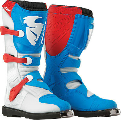 Thor NEW 2017 Mx Blitz Red White Blue Dirt Bike Offroad Adult Motocross Boots