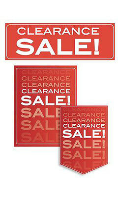 11 Piece Single Sided Glossy Paper Clearance Sale Sign Kit