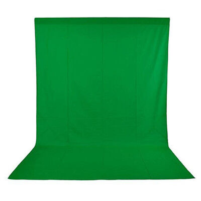 Phot-R 3x3m Photo Studio Non-Woven Backdrop Background Green Screen Chroma Key