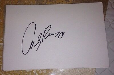 Carly Rae Jepsen Signed 6X4 White Card Music Autograph Pop 100% Genuine