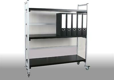 rollwagen rollschrank rollregal k chenwagen b roregal rollbares regal verchromt eur 58 00. Black Bedroom Furniture Sets. Home Design Ideas