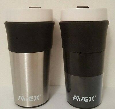 2 x Contigo Avex Insulated Ceramic Stainless Steel Travel Mug Coffee Cup 354mL N