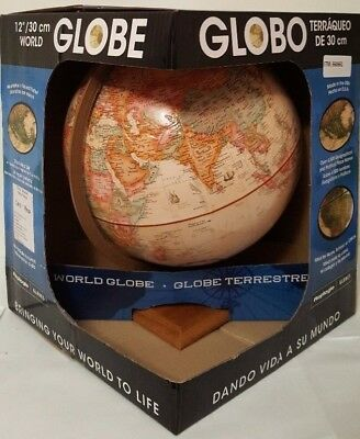 Replogle World Globe Antique 12 Inch / 30.5 cm Up-to-Date Accuracy Modern Earth