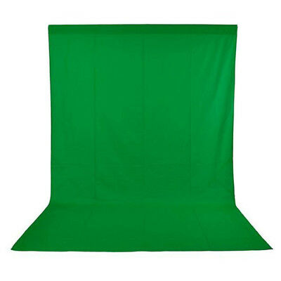 PhotR 3x3m Studio 100% Cotton Muslin Backdrop Background Green Screen Chroma Key