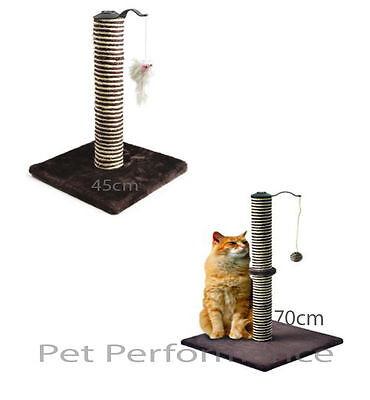 Ancol Premo Deluxe Cat Scratcher 45cm & 70cm - Added Toy