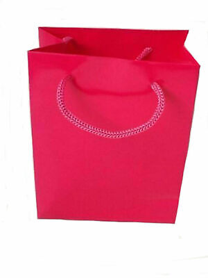 Pack of 12 Glossy Gift Bags With Matching Cord Handles Gifts Wholesale Bulk Buy