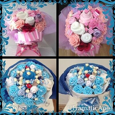 Baby Gift Basket Sock Bouquet And Clothes Luxury Hand Made With Love