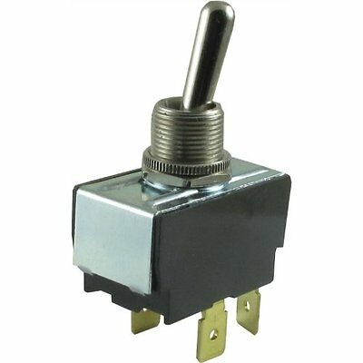 Carling Technologies, Toggle Switch, DPST,4 - .250 Tabs, On/Off, 20A @ 125V-250V