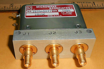Ma7524-So27 Microwave Associates 28Vdc Radio Frequency Switch     New Old Stock