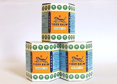 3x 30 G TIGER BALM HERBAL WHITE OINTMENT MASSAGE RELIEF MUSCLE PAIN