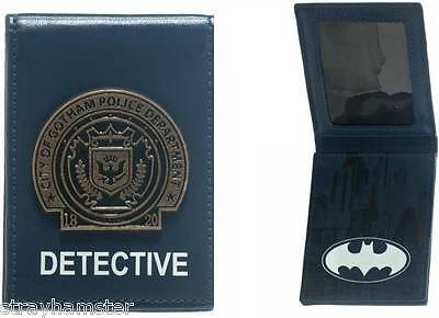 Batman Detective Badge Bi-fold Wallet Gotham Police Department DC COMICS Blue