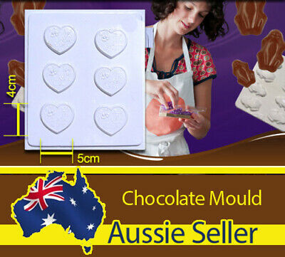Aldax Chocolate Mould / Mold 02 - Thank You Hearts