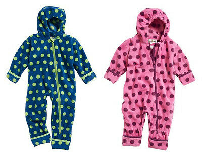 Playshoes Warmer Fleece - Overall * Winter - Anzug * Punkte * Gr. 62, 68, 74, 80