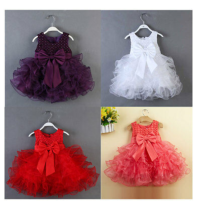 Flower Girls Princess Dress Toddler Baby Wedding Party Pageant Vintage Dresses