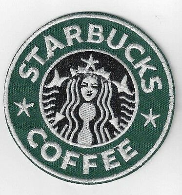 3 inch STARBUCKS COFFEE   IRON ON  PATCH BUY 2 GET 1 FREE = 3 of these