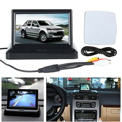 """5"""" TFT LCD HD Foldable Car Reverse Rear View Monitor for Backup Camera DVD VCR"""