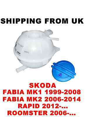 Coolant Cooling Expansion Tank Container Cap Skoda Fabia Mk1 Mk2 Rapid Roomster