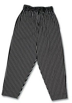 Chef Baggies / Pants / Chalk Stripe / Black and whites / Sizes Small - 5XL