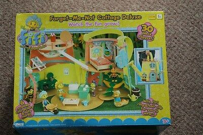 Boxed Fifi & The Flowertots Forget Me Not Deluxe Cottage House Home & 6 Figures