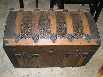 """Antique Chest  30"""" long 16"""" wide and 14 in inches deep"""