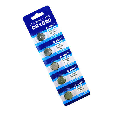 5 X CR1620 3v LITHIUM BUTTON COIN 1620 BATTERIES FOR CAR KEY REMOTE FOB TOY