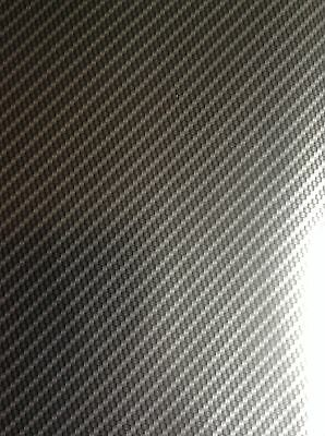 Hydrographic film Silver True Carbon fibre water transfer HugasLTD  ROLLED ONLY!