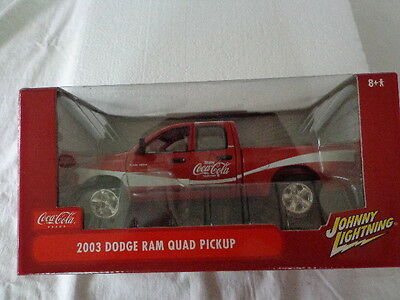 Johnny Lightning Coke Coca Cola 2003 Dodge Ram Quad Pickup 1:24 Scale Coke
