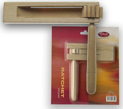 Wooden Percussion Ratchet