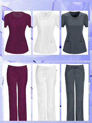 Cherokee Infinity Antimicrobial Protection Women Pant or Top 3 Colors XXS-2XL!!