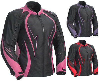 Women Motorbike Motorcycle Racing Waterproof Cordura Jacket Textile.
