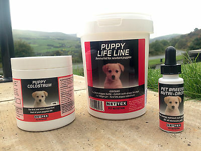 NETTEX PUPPY COLOSTRUM, NUTRI-DROPS or LIFE LINE. COLLATE