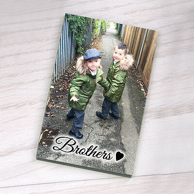 Personalised Hardboard Fridge Magnet - Photo with wording and heart