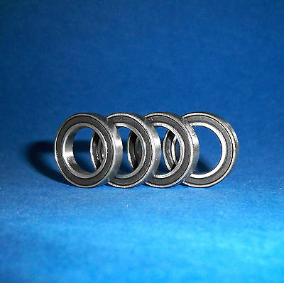 4 Kugellager 6802 / 61802 2RS / 15 x 24 x 5 mm