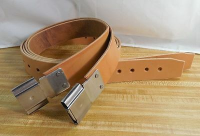 Amish Handmade LIGHT OIL Genuine USA Leather 2-inch STIRRUP STRAPS with BUCKLES