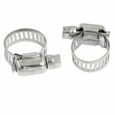 2 Pcs Worm Drive Adjustable Pipe Hose Clamp Wrap 10mm-16mm