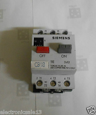 Siemens Manual motor starter part no. 3VE1010-20