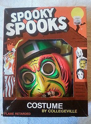 Vintage Collegeville Witch  Halloween Costume in box Spooky Spooks medium 8 - 10