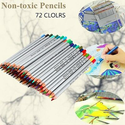 72 Colors Oil Base Marco Fine Art Artist Sketch Drawing Non-toxic Pencils Kit