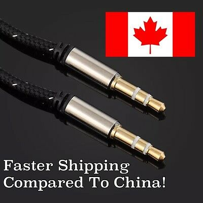NEW! 3.5mm Male to Male Car AUX Cable For iPhone iPod SHIPS FROM CANADA!